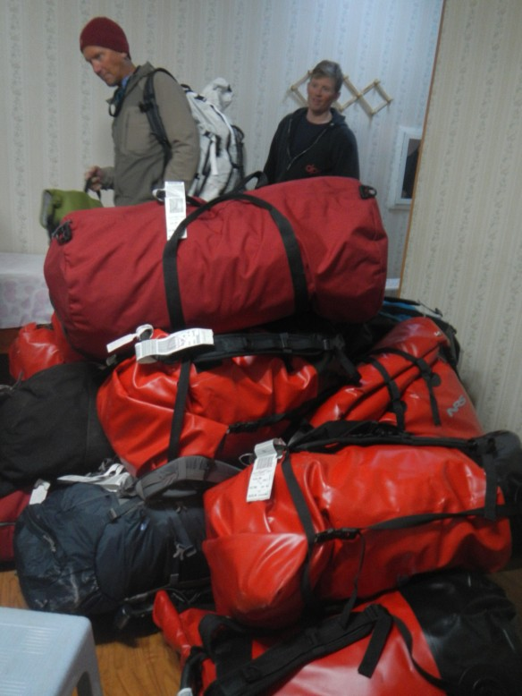 Some of our luggage - gear and food resupply bags.